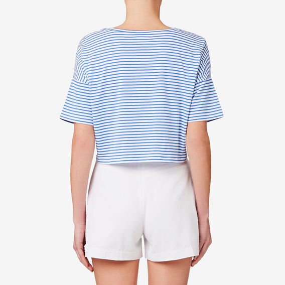 Drop Shoulder Knot Tee  STRIPE  hi-res