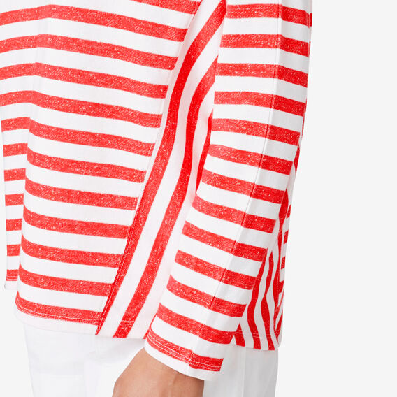 Textured Stripe Sweat  ROYAL RED STRIPE  hi-res