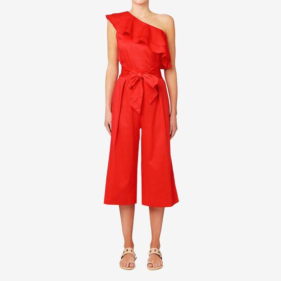 One Shoulder Jumpsuit  ROYAL RED  hi-res