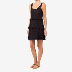 Tiered Frill Dress  BLACK  hi-res