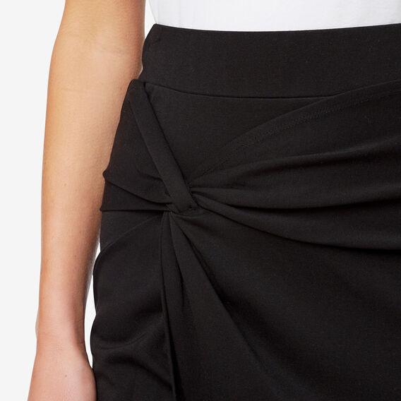 Knot Front Skirt  BLACK  hi-res