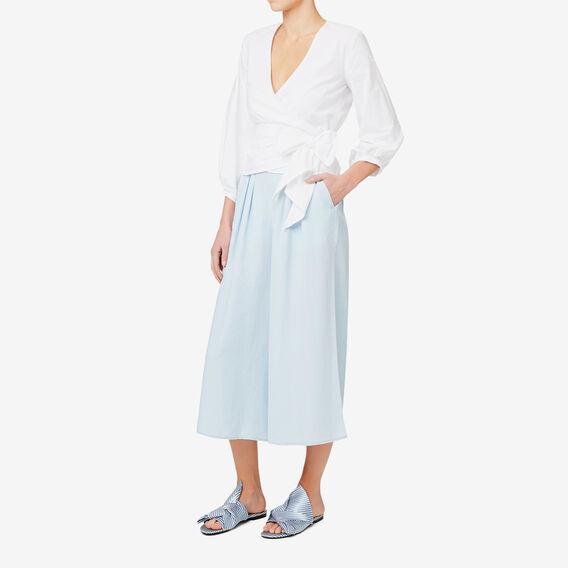 Wide Leg Tencel Pant  SPRING BLUE  hi-res