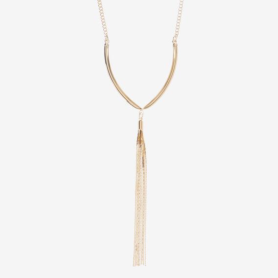 Wishbone Necklace  GOLD  hi-res