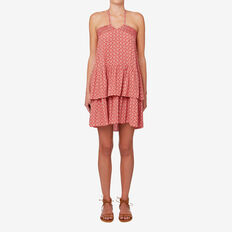 Geo Frill Hem Dress  GEO PRINT  hi-res