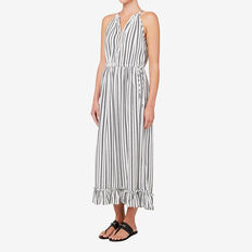 Stripe Maxi Dress  BLACK/CLOUD CREAM  hi-res