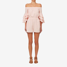 Frill Sleeve Playsuit  PETAL PINK  hi-res