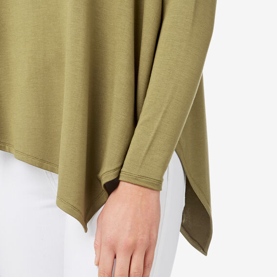 Asymmetrical Sweater  FERN GREEN  hi-res