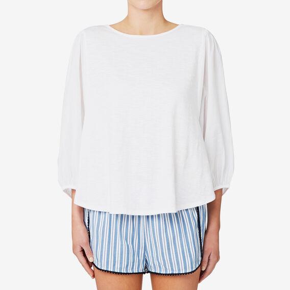 Blouson Sleeve Top  BRIGHT WHITE  hi-res