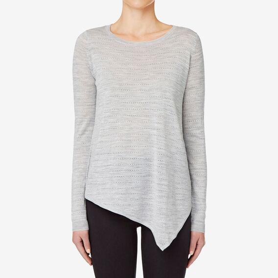 Asymmetrical Sweater  DOVE GREY MARLE  hi-res