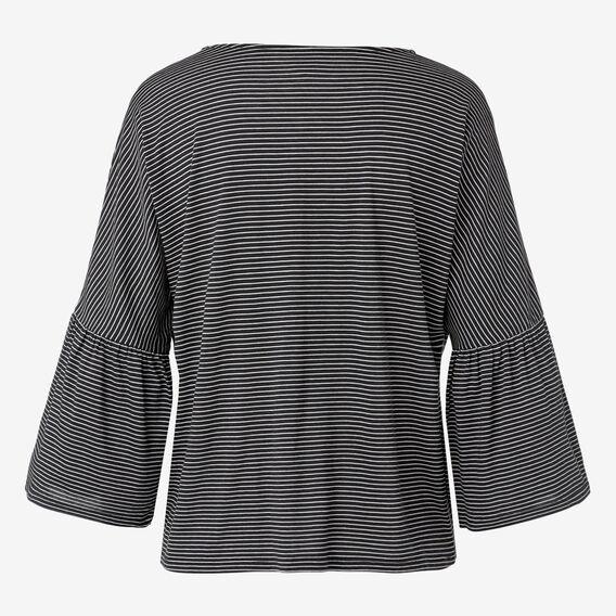 Frill Sleeve Top  STRIPE  hi-res