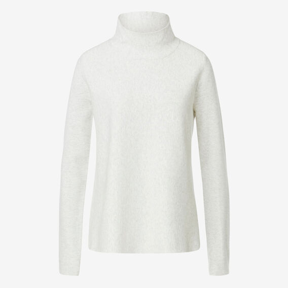 Roll Neck A-Line Sweater  WHITE MARLE  hi-res