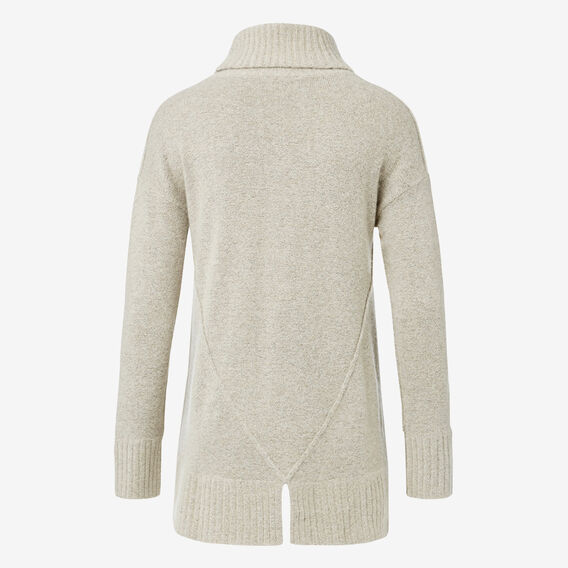 Split Hem Roll Neck Knit  OAT MARLE  hi-res