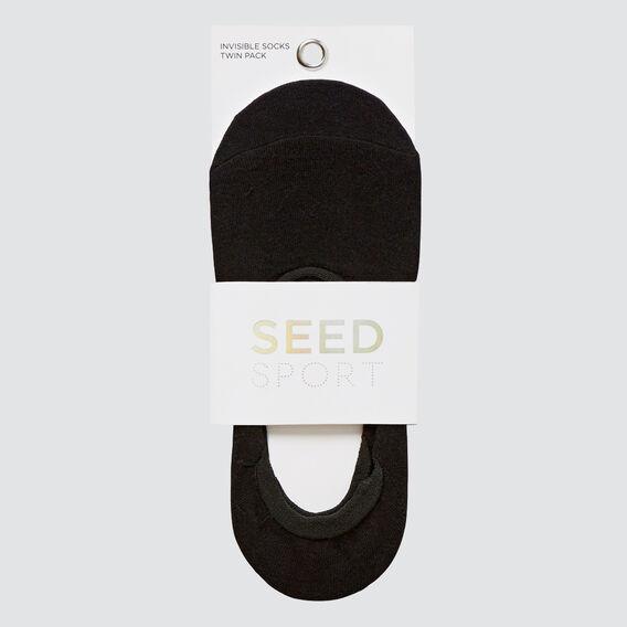 Invisi Twin Pack Socks  BLACK MULTI  hi-res