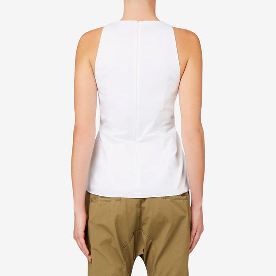 Lace Up Tank  BRIGHT WHITE  hi-res