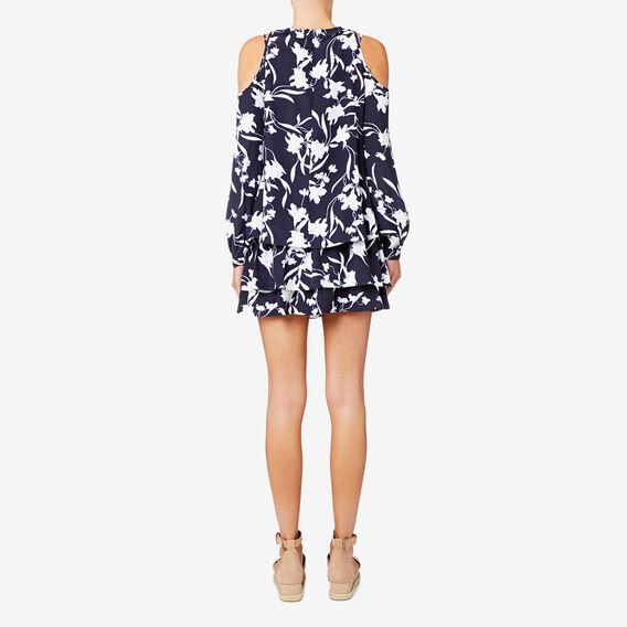 Floral Cold Shoulder Dress  FLORAL  hi-res