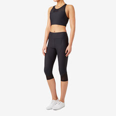 Mesh Crop Legging  BLACK  hi-res