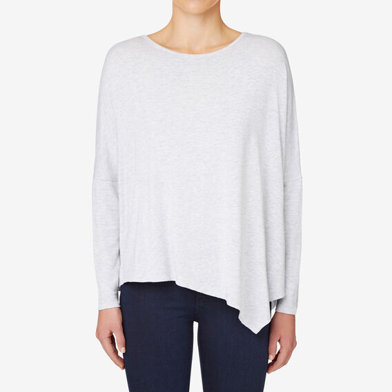 Asymmetrical Sweater  LIGHT GREY MARLE  hi-res