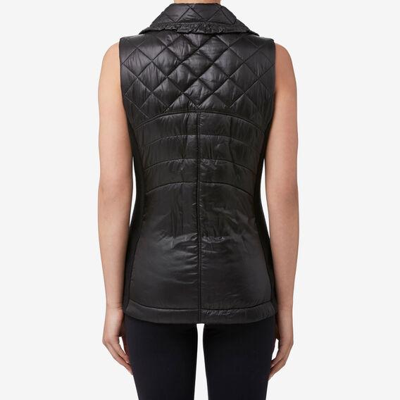 Wet Look Vest  BLACK  hi-res
