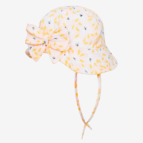 Floral Bow Sun Hat  ICE PINK  hi-res