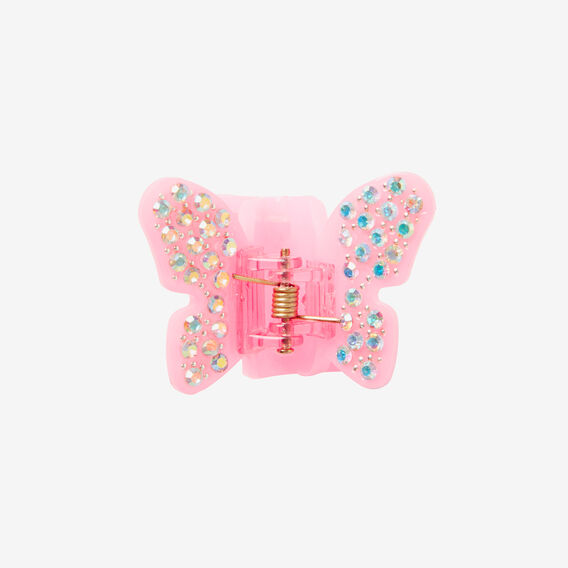 Butterfly Jewel Croc Clip  BRIGHT PINK  hi-res