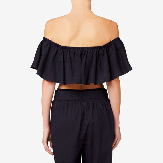 Frill Bodice Top  DEEP NAVY  hi-res