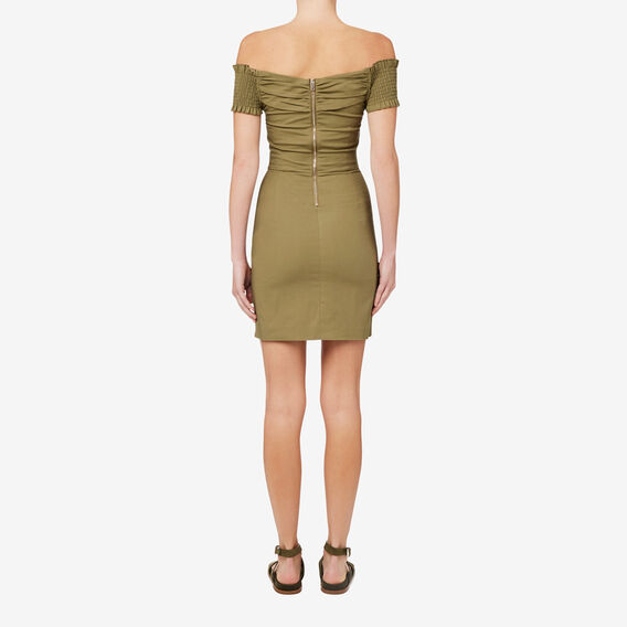 Fitted Wrap Dress  FERN GREEN  hi-res