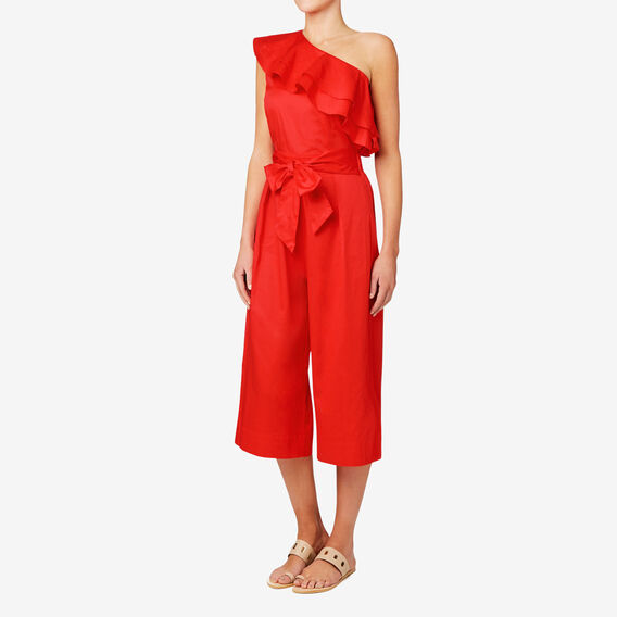 One Shoulder Jumpsuit  ROYAL RED  hi-res