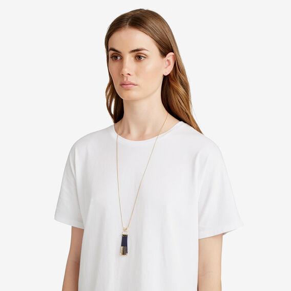Cap Tassel Necklace  NAVY/GOLD  hi-res