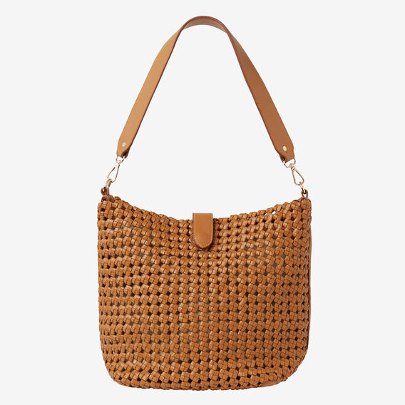 Janice Weave Bucket Bag  TAN  hi-res