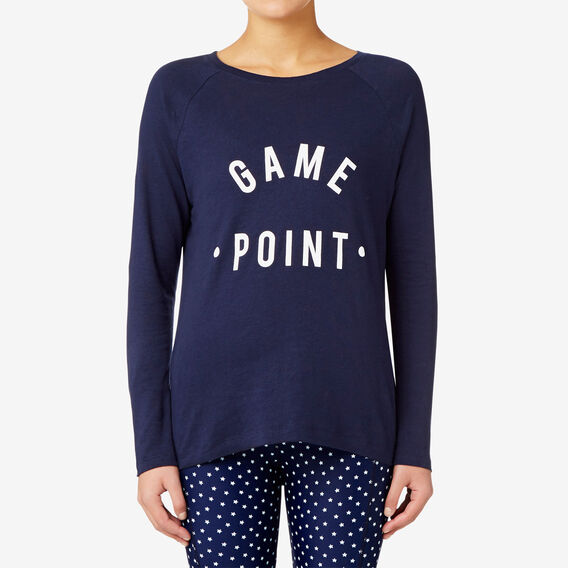 Game Point Tee  NAVY  hi-res
