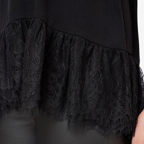 Lace Trim Cami  BLACK  hi-res