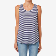 Easy Stripe Tank  ROYAL NAVY STRIPE  hi-res
