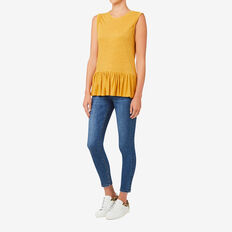 Peplum Tank  HONEY YELLOW  hi-res