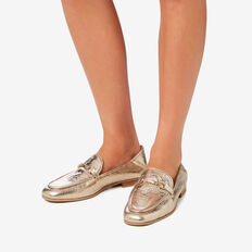 Valentina Metallic Loafer  GOLD  hi-res
