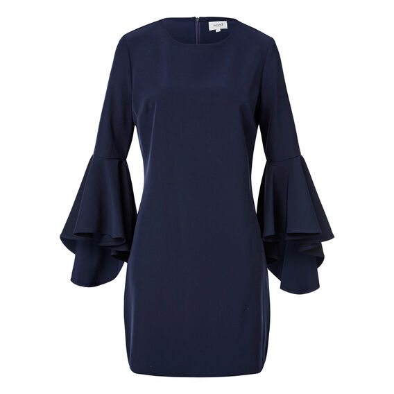 Flare Sleeve Dress  INK BLUE  hi-res