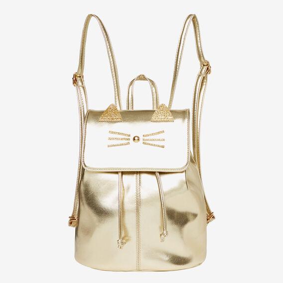 Metallic Cat Backpack  GOLD  hi-res
