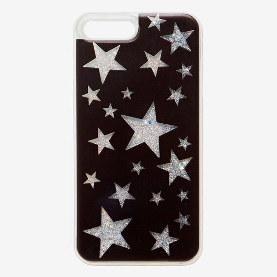 Glitter Star Phone Case 7+  BLACK  hi-res