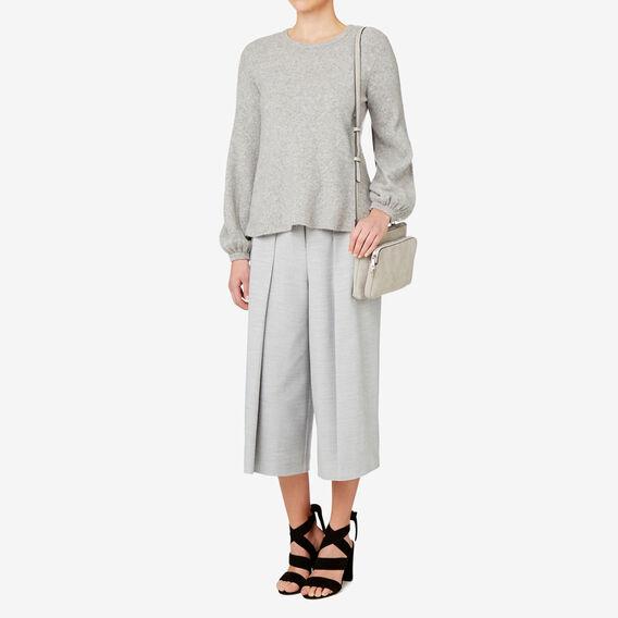 Lightweight Full Sleeve Knit  LIGHT GREY MARLE  hi-res