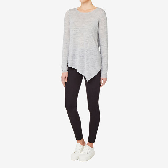 Asymmetrical Sweater  DOVE GREY MARLE  hi-res