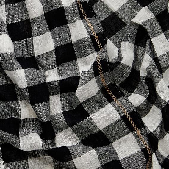 Gingham Scarf  BLACK/WHITE  hi-res