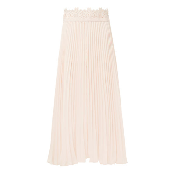 Pleated Lace Skirt  SHELL PINK  hi-res