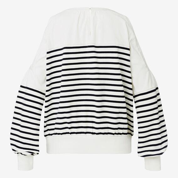 Cold Shoulder Stripe Sweater  STRIPE  hi-res