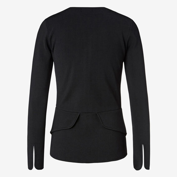 Crepe Peplum Jacket  BLACK  hi-res