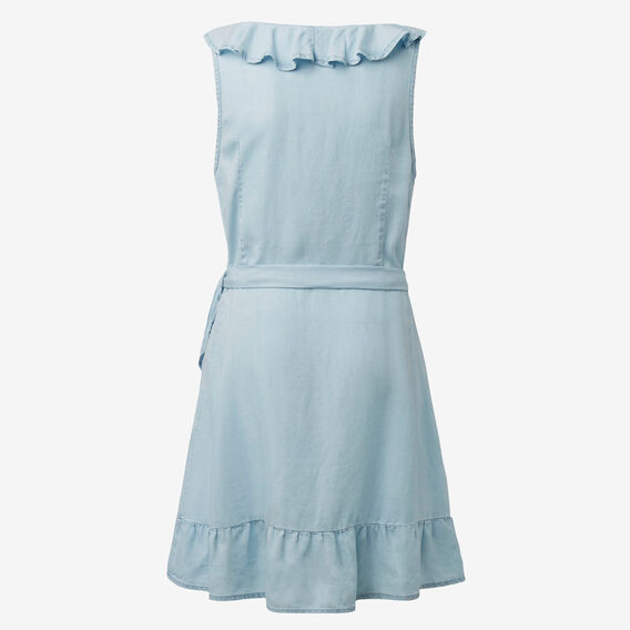 Frill Dress  SUNBLEACHED CHAMBRAY  hi-res