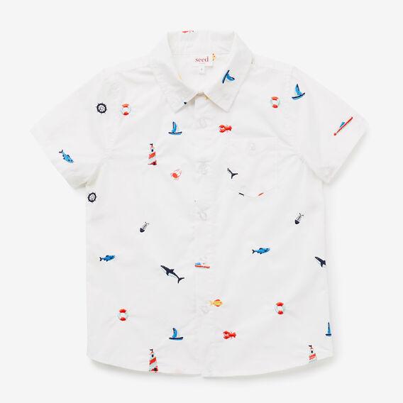 Embroidered Shirt  VINTAGE WHITE  hi-res