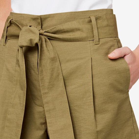 Tie Waist Short  FERN GREEN  hi-res