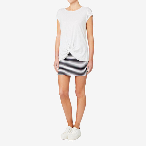 Knot Front Tee  LIGHT GREY MARLE  hi-res