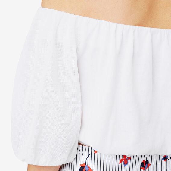 Blouson Sleeve Crop Top  BRIGHT WHITE  hi-res