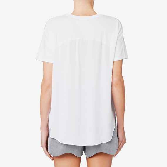 Oversized Splice Tee  BRIGHT WHITE  hi-res