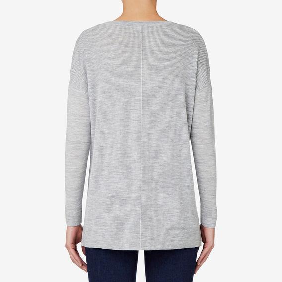 Mini Rib Hi Lo Sweater  MID GREY MARLE  hi-res